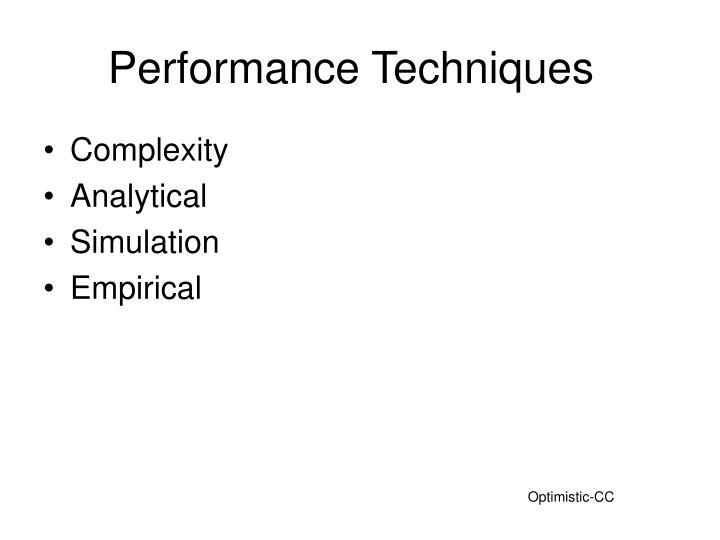 Performance Techniques