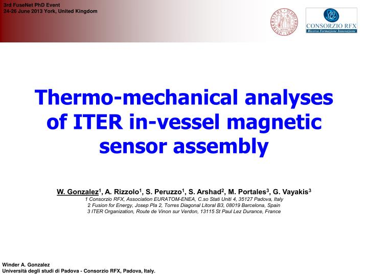 Thermo-mechanical analyses of ITER in-vessel magnetic sensor assembly