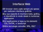 interfacce web