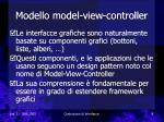 modello model view controller