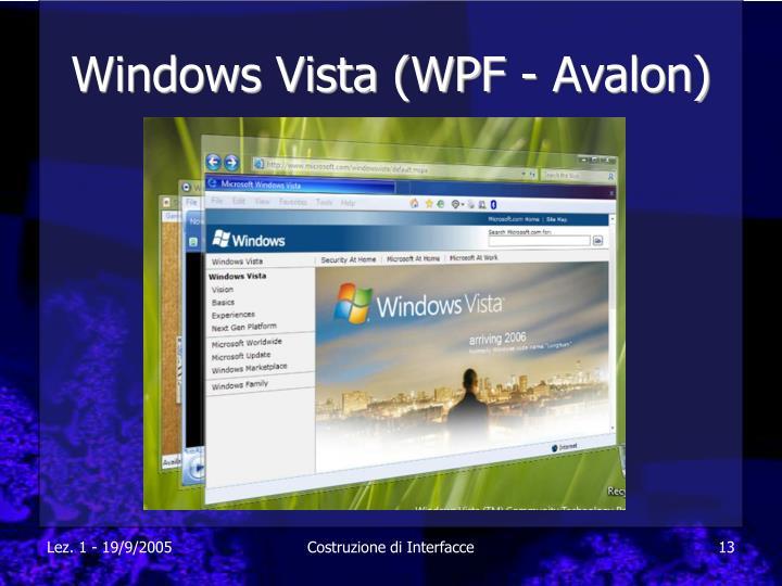 Windows Vista (WPF - Avalon)