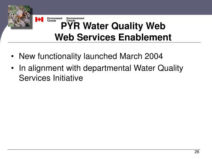PYR Water Quality Web