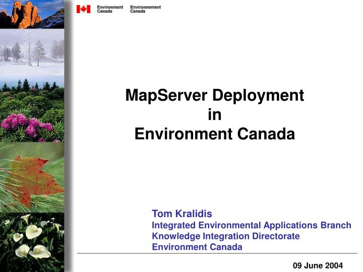 MapServer Deployment
