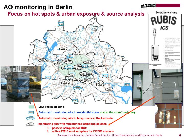 AQ monitoring in Berlin