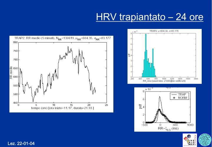 HRV trapiantato – 24 ore