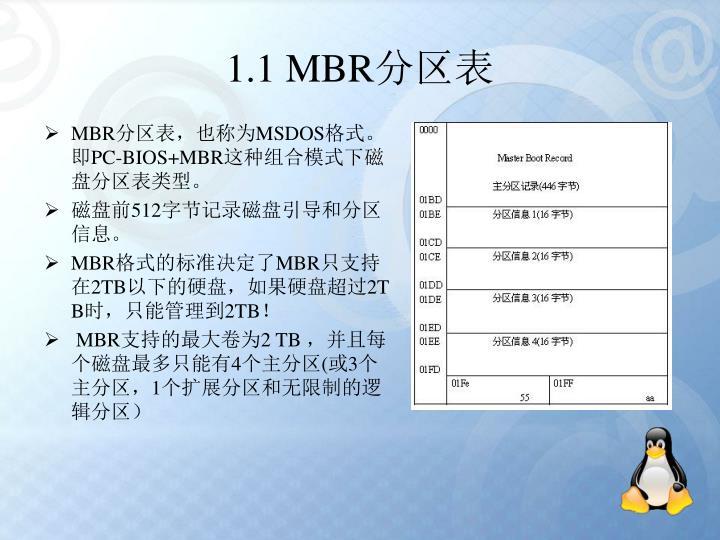 1.1 MBR