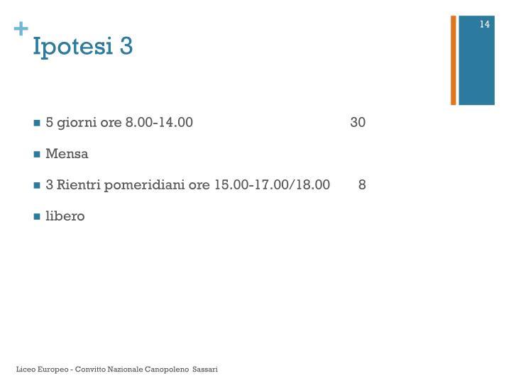 Ipotesi 3