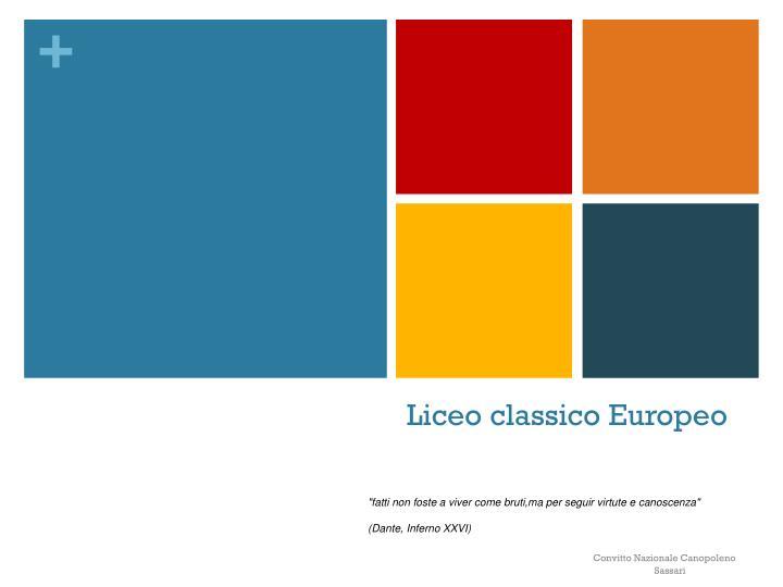 liceo classico europeo