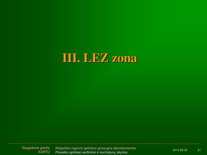III. LEZ zona