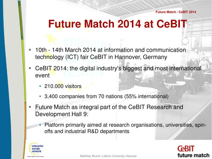 Future match 2014 at cebit