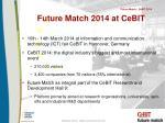 future match 2014 at cebit