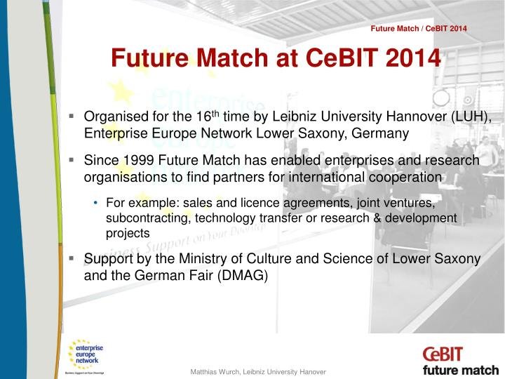 Future match at cebit 2014
