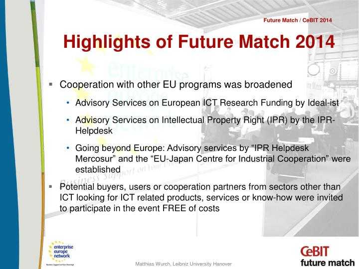 Highlights of Future Match 2014