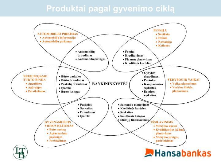 Produktai pagal gyvenimo ciklą
