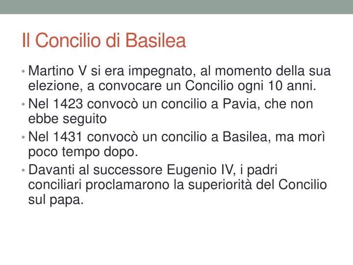 Il Concilio di Basilea
