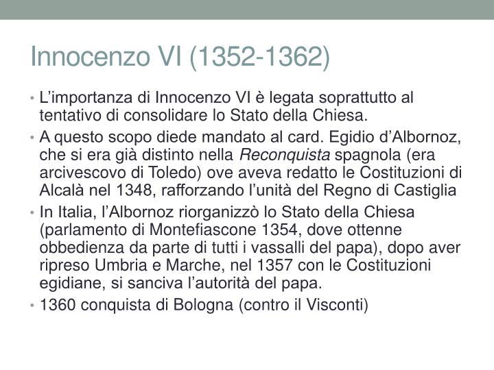 Innocenzo VI (1352-1362)