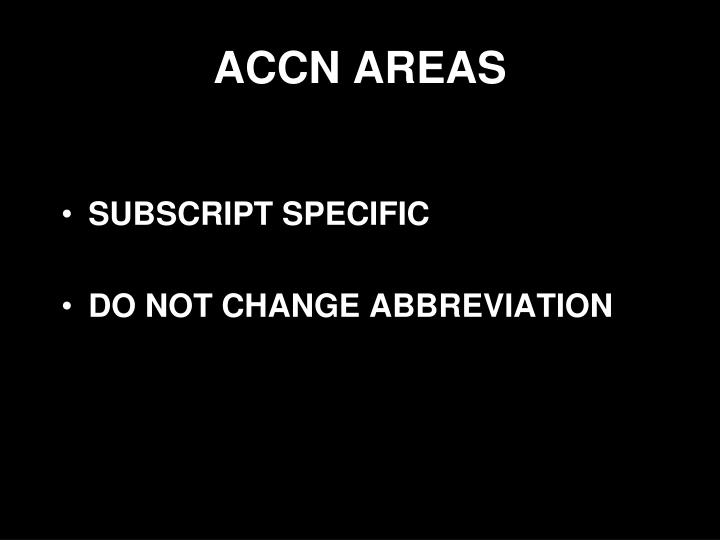 ACCN AREAS