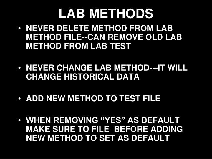 LAB METHODS