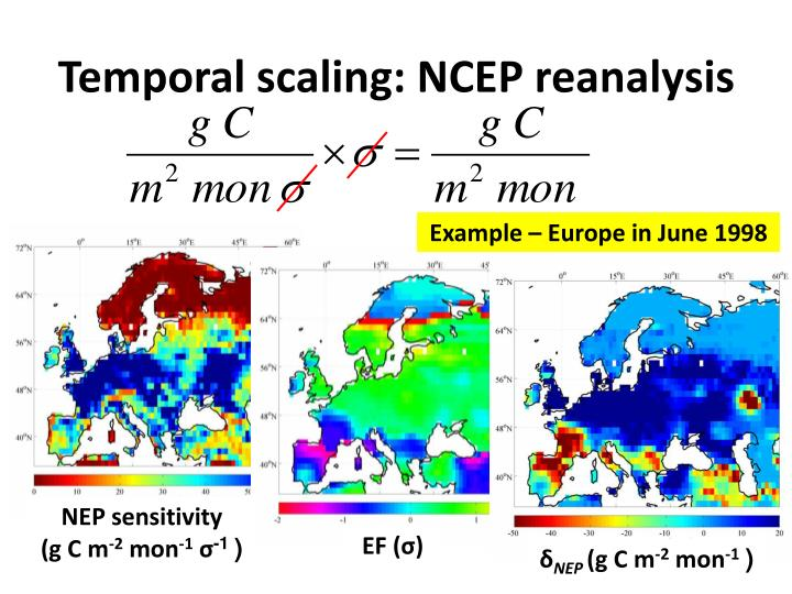 Temporal scaling: NCEP reanalysis