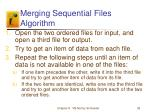 merging sequential files algorithm