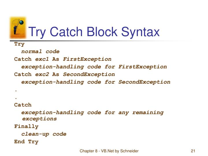 Try Catch Block Syntax