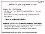 demokratisierung von schule