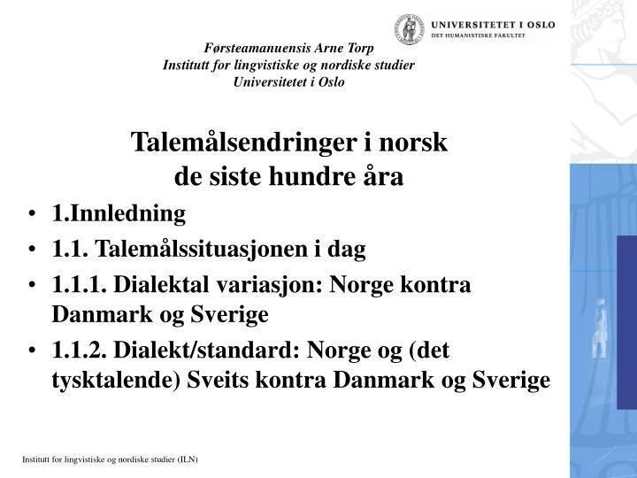 Førsteamanuensis Arne Torp