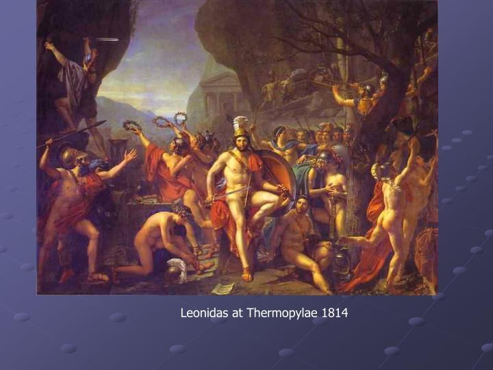 Leonidas at Thermopylae 1814