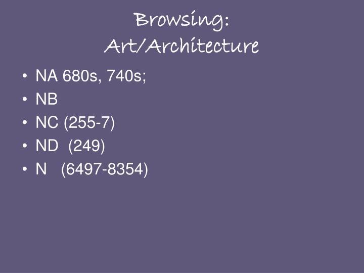 Browsing:
