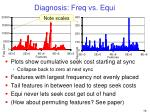 diagnosis freq vs equi