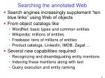 searching the annotated web