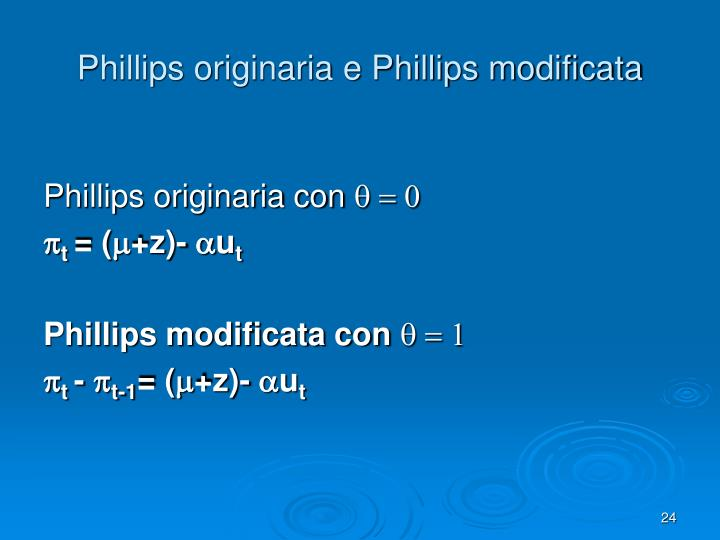 Phillips originaria e Phillips modificata