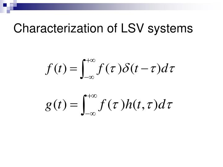 Characterization of LSV systems