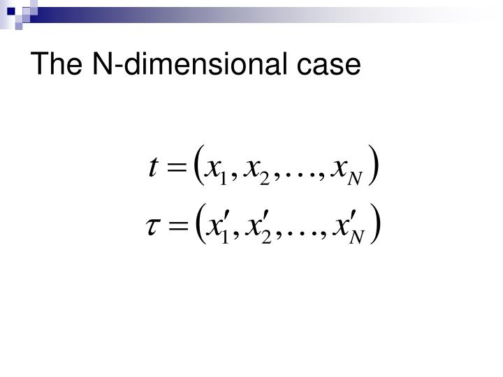 The N-dimensional case