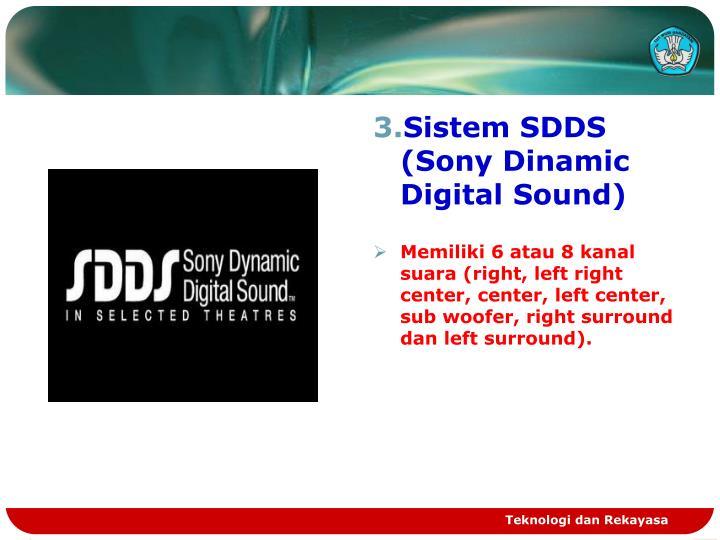 Sistem SDDS (Sony Dinamic Digital Sound)