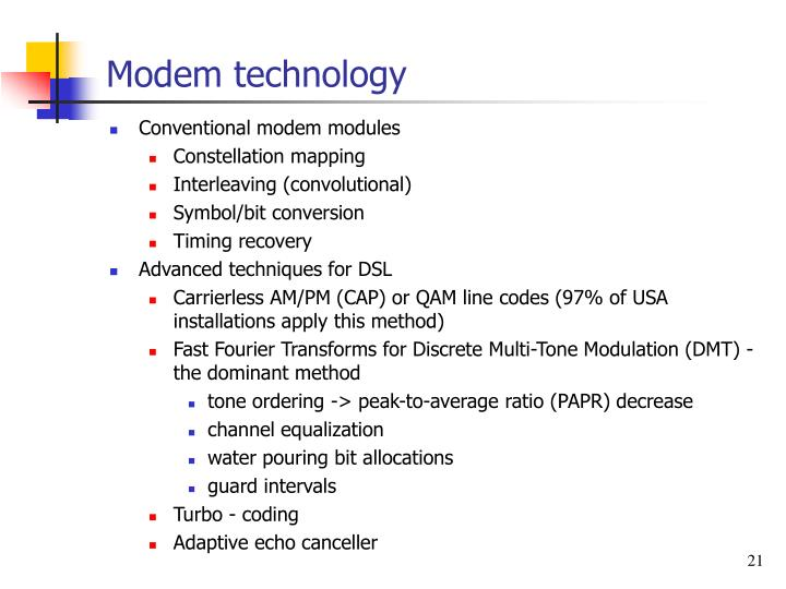 Modem technology