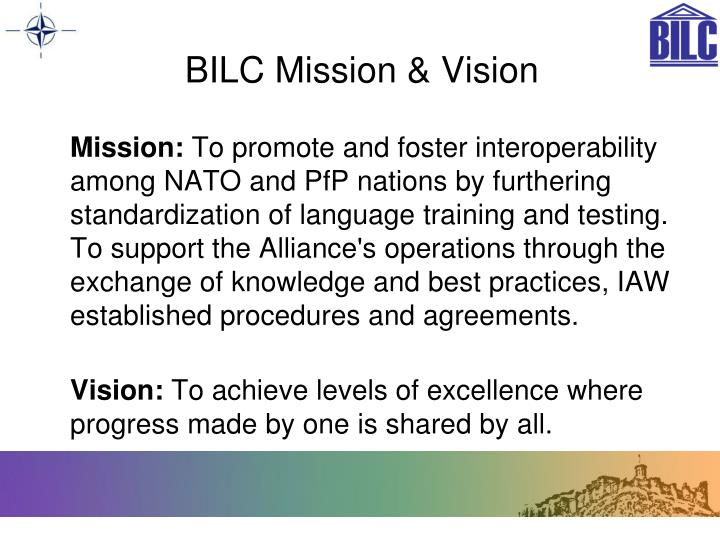 BILC Mission & Vision
