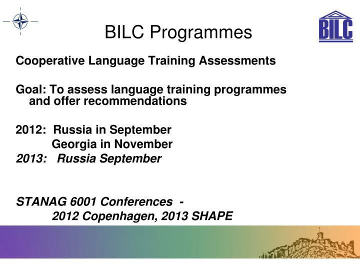 BILC Programmes