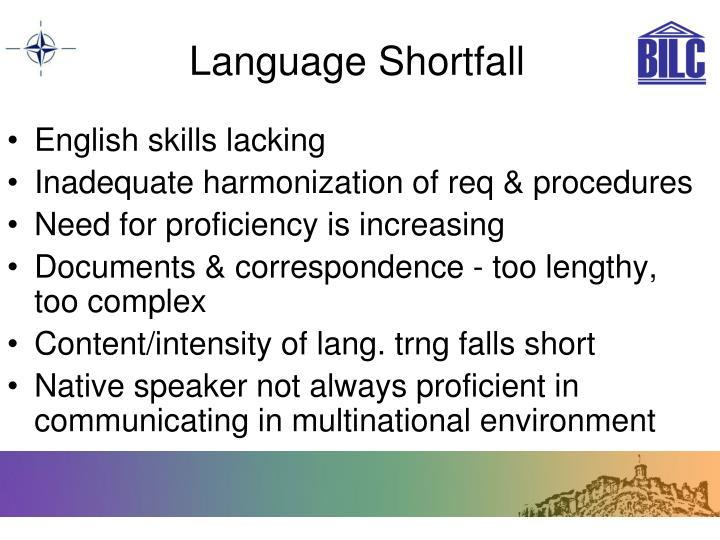 Language Shortfall