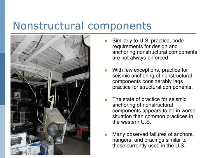 Nonstructural components