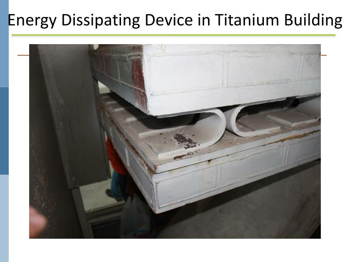 Energy Dissipating Device in Titanium Building