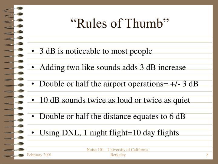 """""""Rules of Thumb"""""""
