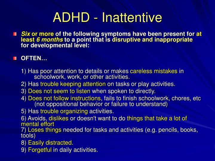 ADHD - Inattentive
