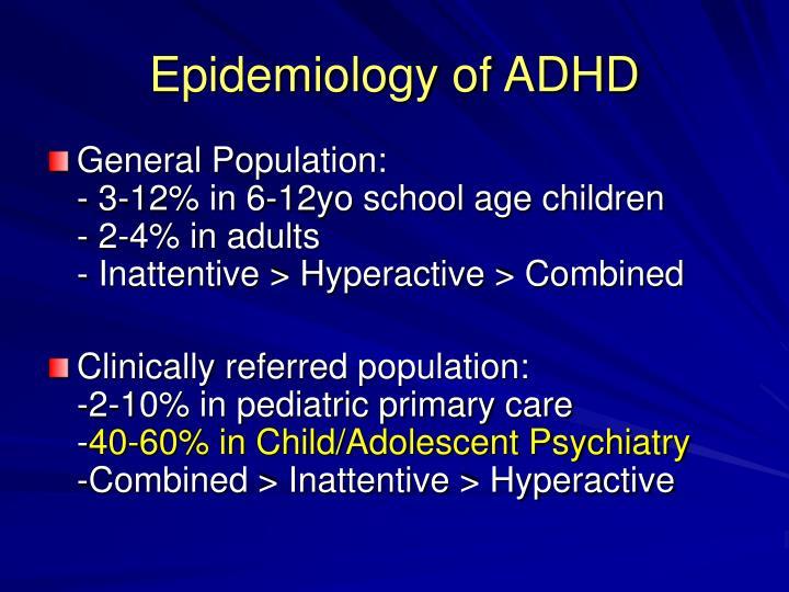 Epidemiology of ADHD