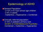 epidemiology of adhd