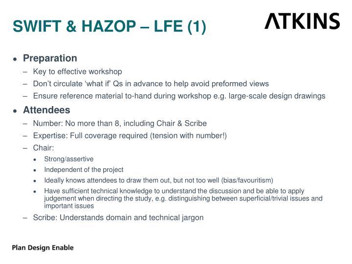 SWIFT & HAZOP – LFE (1)