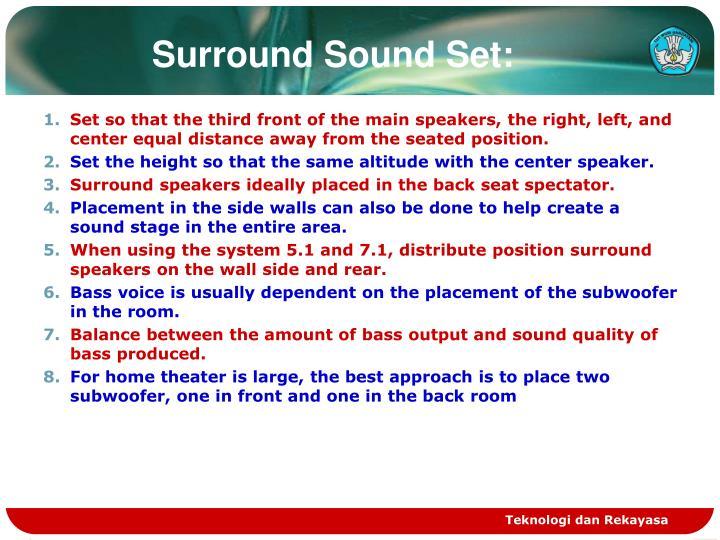 Surround Sound Set: