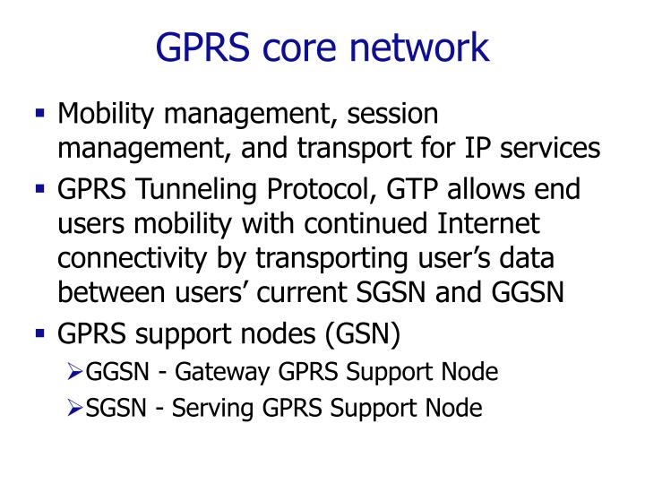 GPRS core network