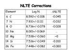 nlte corrections