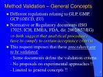method validation general concepts